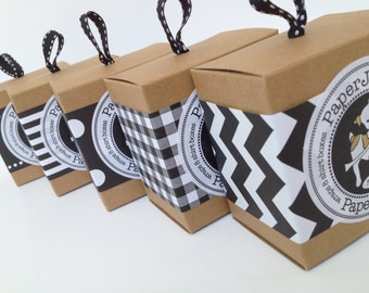 Black Paper Ribbon in Pattern of Your Choice