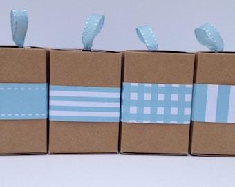 Narrow Aqua Paper Ribbon in Pattern of Your Choice