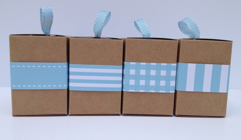 Narrow Aqua Paper Ribbon in Pattern of Your Choice image 0
