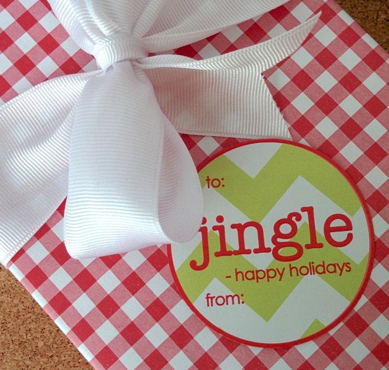 Jingle Christmas Labels image 0