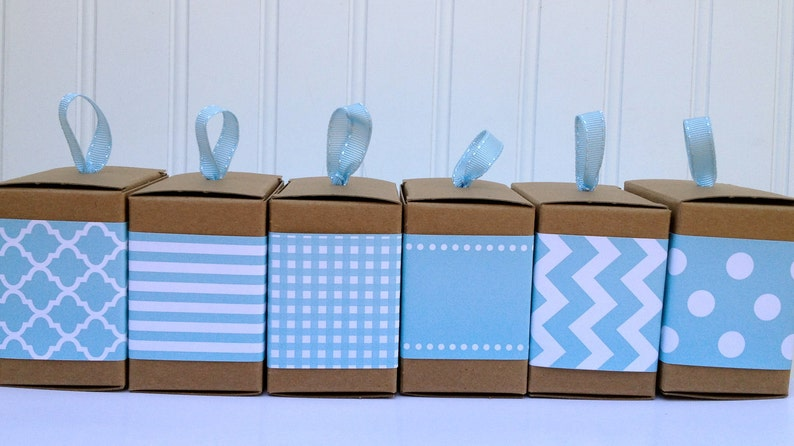 Aqua Paper Ribbon in Pattern of Your Choice image 0