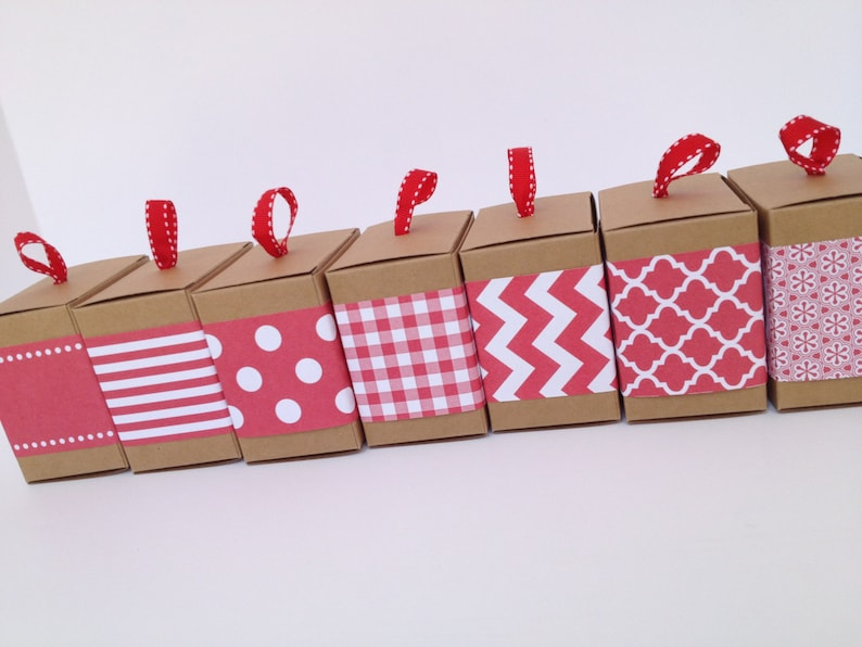 Red Paper Ribbon in Pattern of Your Choice image 0