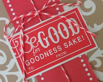 Labels - Be GOOD for goodness sake