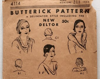 Antique Roaring 20/'s Butterick Sewing Pattern 5798 Misses Long Waist Wrap Dress Side Bow Size 40 Bust Uncut-antique sewing pattern 1920s