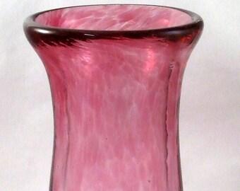 Rose à la main soufflé Vase en verre