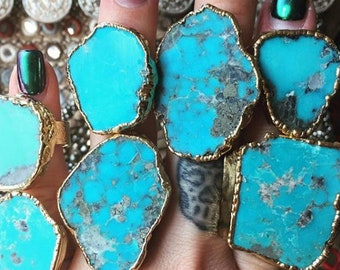 TURQUOISE MOUNTAIN RING/// Gold
