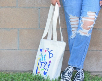 Down Syndrome Awareness, Down Syndrome Gifts, Down Syndrome Totes, Blue and Yellow Totes, t21 gifts, Down Syndrome Accessories, T21