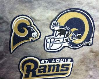 St. Louis Rams iron on applique set