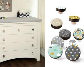 Drawer Knobs - Drawer Pulls - Cupboard Knobs - Dresser Knobs - Dresser Pulls - Furniture Knobs - Cabinet Door Knobs - Closet Pulls -Set Of 9