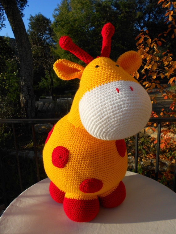 Crochet Pattern Pillow Pet Duck Giant Elephant Or Giraffe Etsy