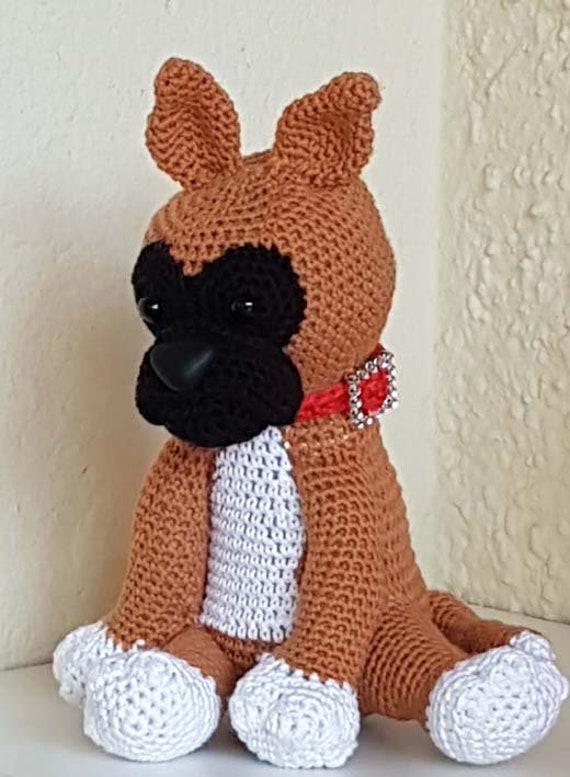 Crochet Pattern Boxer Puppy Haakpatroon Boxer Puppy Etsy
