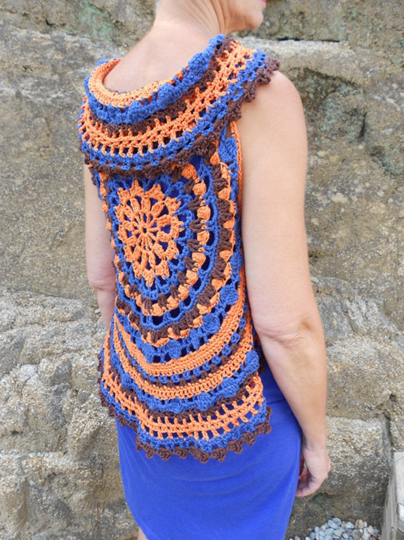 35e116be6a8443 Crochet patterns circular vests or bolero haakpatronen