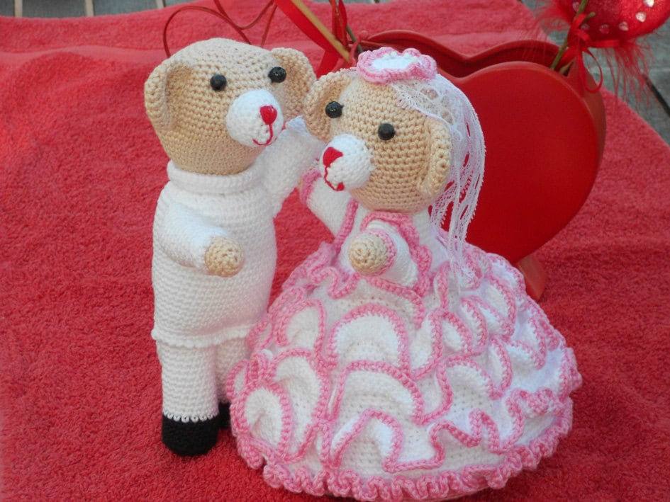 Crochet Pattern Dancing Wedding Bears Haakpatroon Dansende Etsy