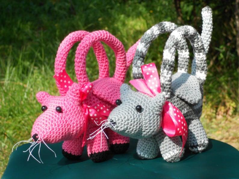 ec27aa7f8 Patrones de crochet bolsitos de peluche para niños | Etsy