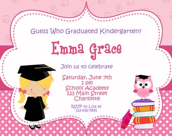 preschool graduation invitation etsy