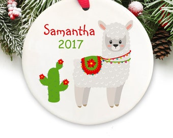 personalized llama christmas ornament personalized keepsake ornament llama christmas ornament gift box included