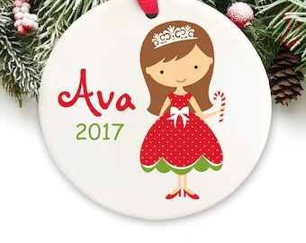 Personalized Christmas Ornament Personalized Princess Christmas Ornament GIFT BOX  Included