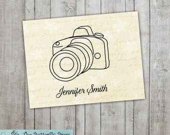 Camera Note cards  personalized folded notecards Camera Stationery