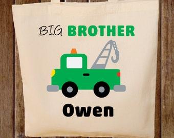 Big Brother Tote Bag Boys Tote Bag  Truck tote bag