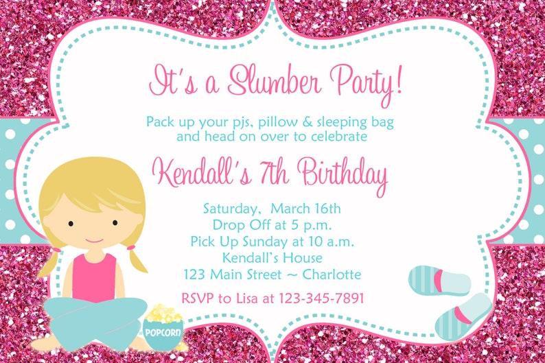 Uitnodiging Voor Feest Verjaardag Sluimeren Pyjama Party Etsy