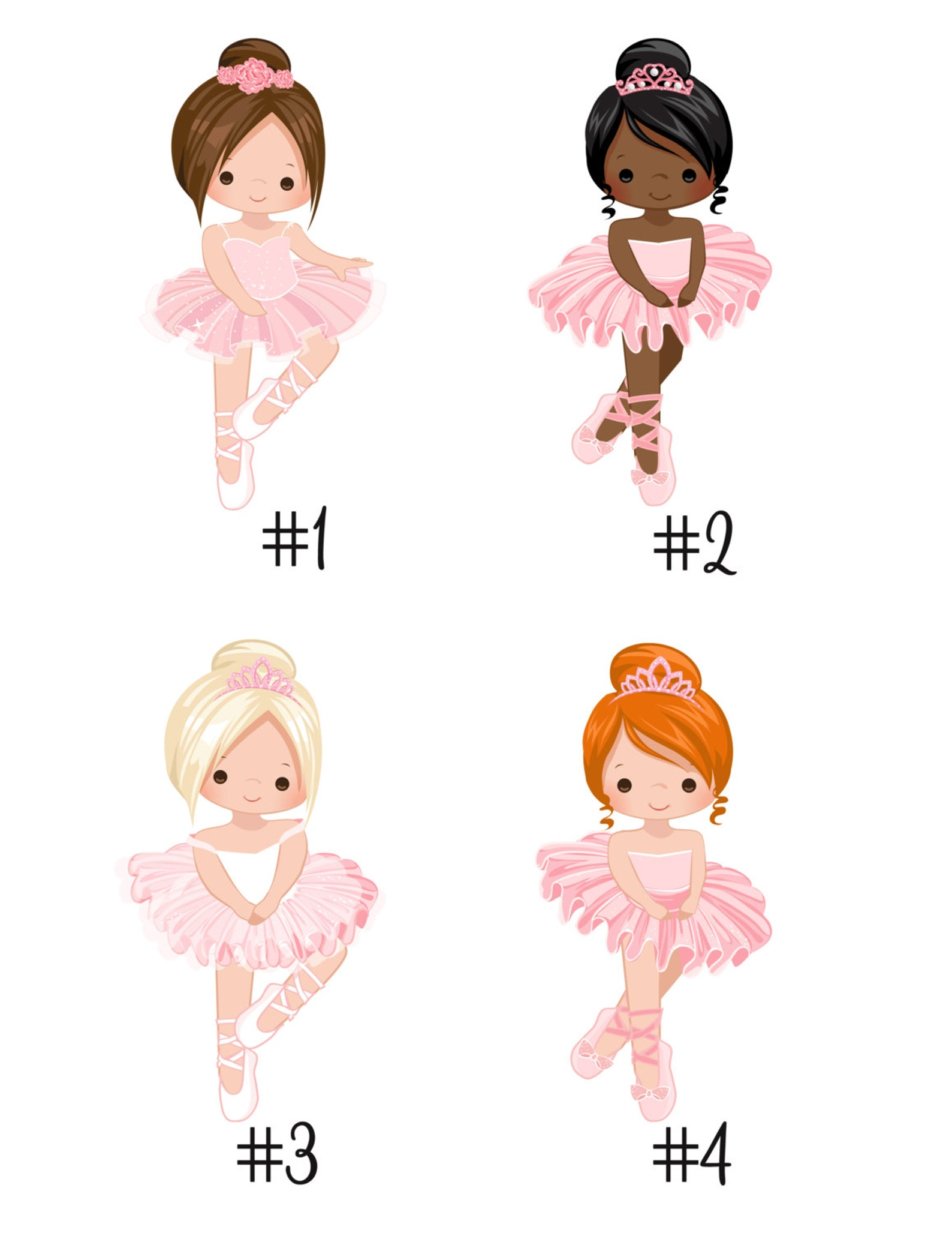 ballet birthday invitation ballet birthday party -- choose girl