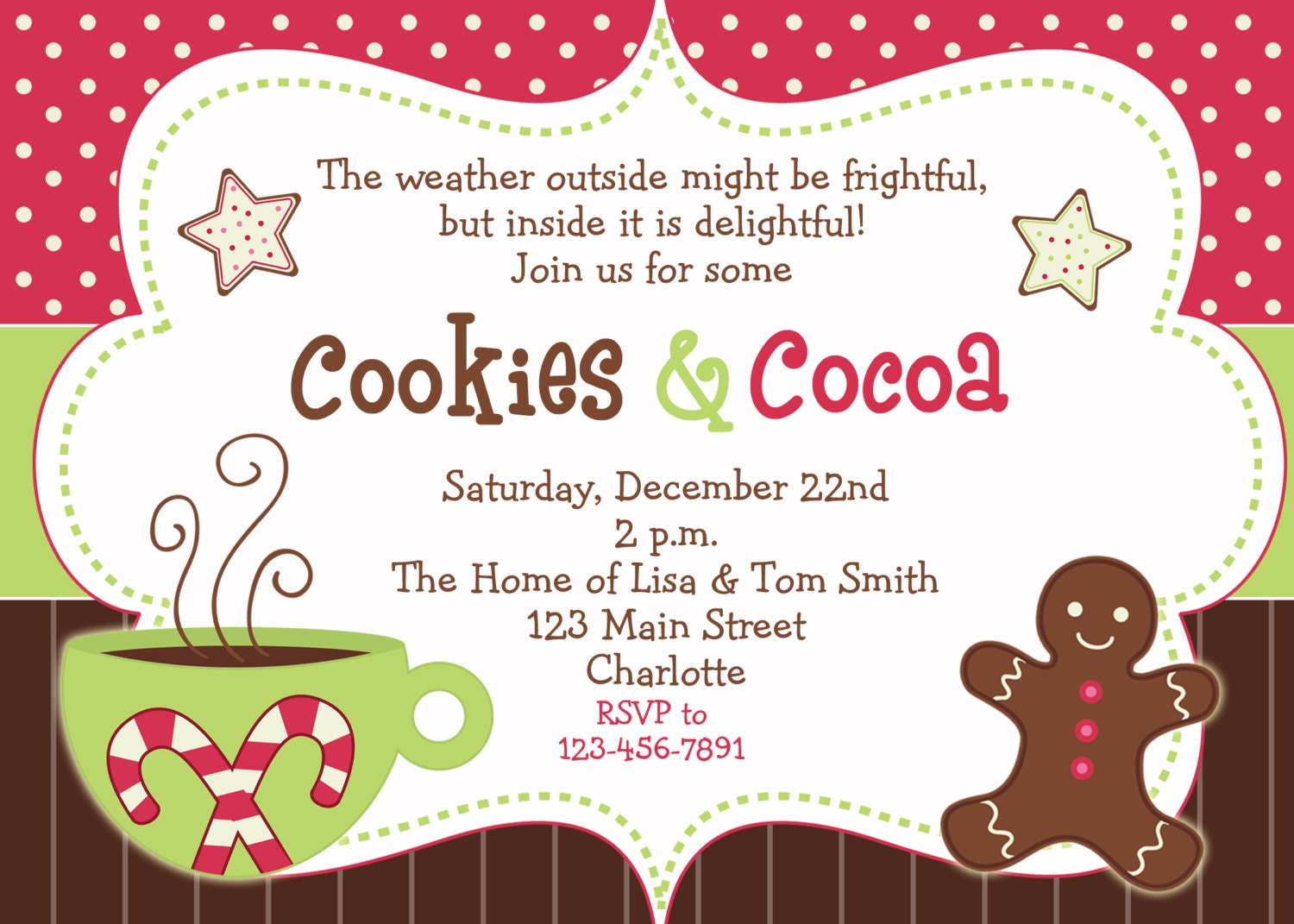 Cookies And Cocoa Winter Party Invitation Birthday