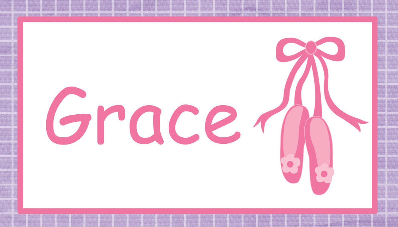 ballet backpack tag - backpack tags , lunchbox tags, luggage tags -- ballet shoes