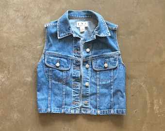 INC - denim vest