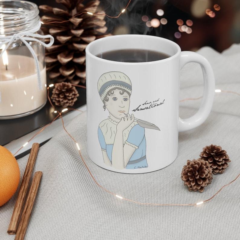 Sense and Sensational Fun Jane Austen mug for readers and image 3