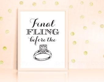 Bachelorette Party Decoration Printable Wedding Sign INSTANT DOWNLOAD