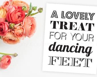 Printable Flip Flop Wedding Basket Sign Dancing Shoes INSTANT DOWNLOAD 8x10 PDF