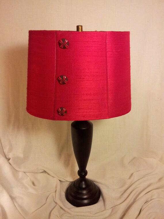 Treasury List Red Lampshade Oval Barrel Shade Red Silk Etsy
