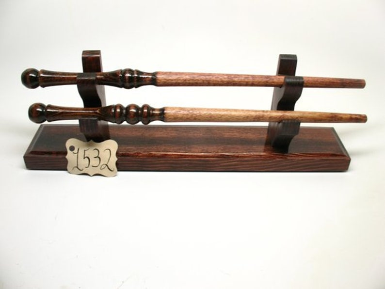 Magic Wand Holder Stand Display With 2 Wands