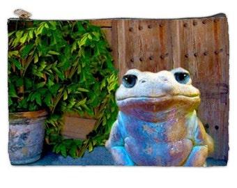 Find Your Inner Zen Cosmetic Bag, yoga frog, meditation, frog, good luck frog, makeup bag, frog makeup bag, frog cosmetic bag, NirvanaRoad
