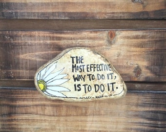 Quote Stone, ArtRock, Motivational Art, Painted Stone, Painted Rock