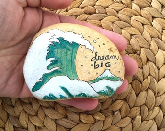 Dream Big Stone, motivational Quote Stone, Painted Stone, painted Rock