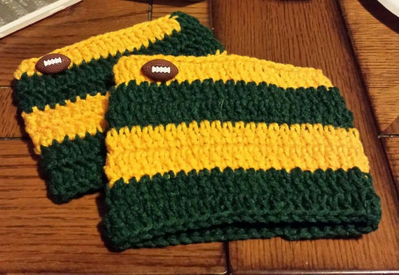 Green Bay Packers Football Boot Cuff Set Shipped Free Etsy