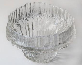 Vintage Scandinavian Art Glass Vase Stellaria Tapio Wirkkala for Itala Finland 3450 Signed 18cm Size