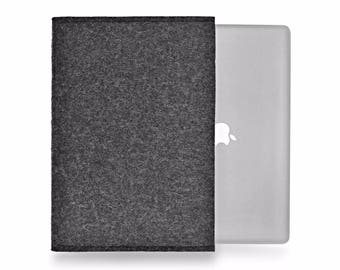 MacBook Pro 16 inch case MacBook Pro 13 inch 15 inch 2019 sizes wool felt cover landscape design all natural undyed sustainability