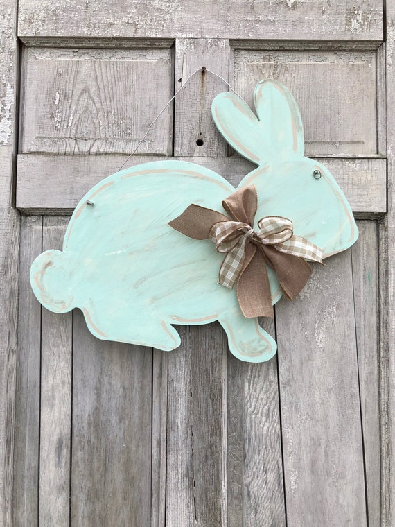 Farm house, Hand painted, personalized, Easter, Bunny, door hanger, wall sign or Easter decoration