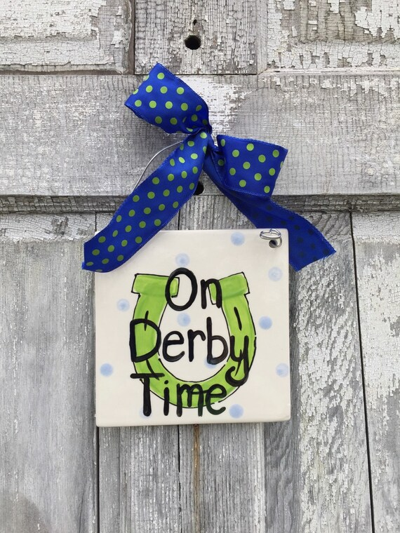 KENTUCKY DERBY Party, At the races trivet, On Derby time sign, Derby gift, Derby party, KY gift, Made in Kentucky sign, Horse racing trivet