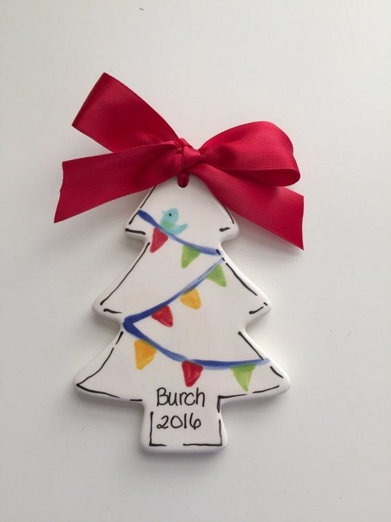 Personalized Christmas tree ornament, Christmas tree ornament, ceramic Christmas ornament, Personalized Family ornament, Painter ornament