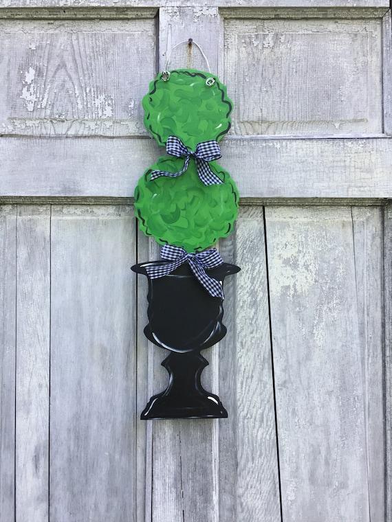 Topiary door hanger, Door hanger, door sign, topiary lover, welcome door hanger, traditional door hanger, spring door hanger