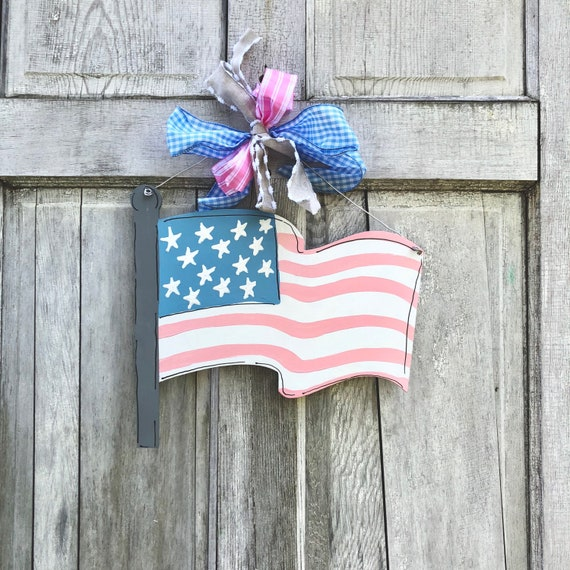 American Flag door hanger, USA sign, american door hanger, 4th of July door hanger, Patriotic Door Hanger, flag sign, july 4th decor, summer