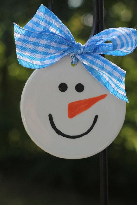 Personalized snowman ornament, snowman ornament,  Girl snowman ornament, Boy snowman ornament, snowman lover ornament