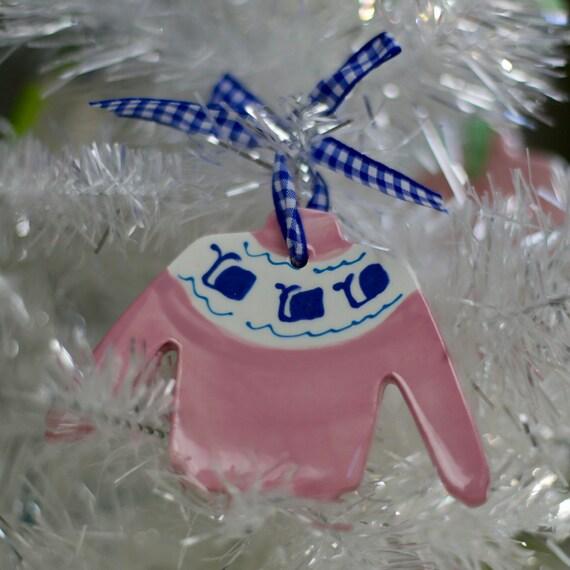 Preppy sweater ornament, whale sweater ornament, fair isle sweater ornament, alligator sweater ornament, preppy Christmas