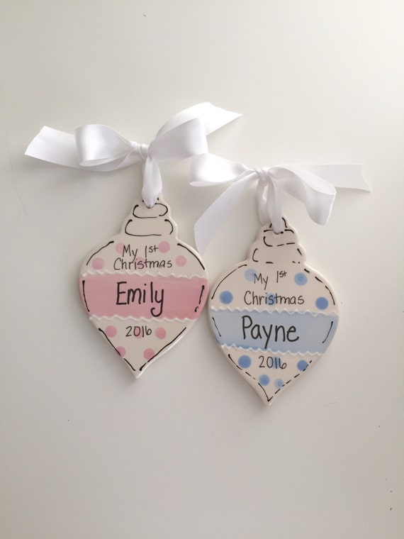 Baby Boy ornament, Baby Girl ornament, My first Christmas, ornament, Child's personalized  ornament, My 1st Christmas gift