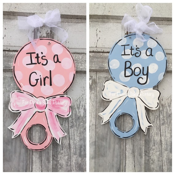 New Baby door hanger, Baby Hospital door hanger, It's a boy sign, It's a girl door hanger, baby shower door hanger, Baby door hanger