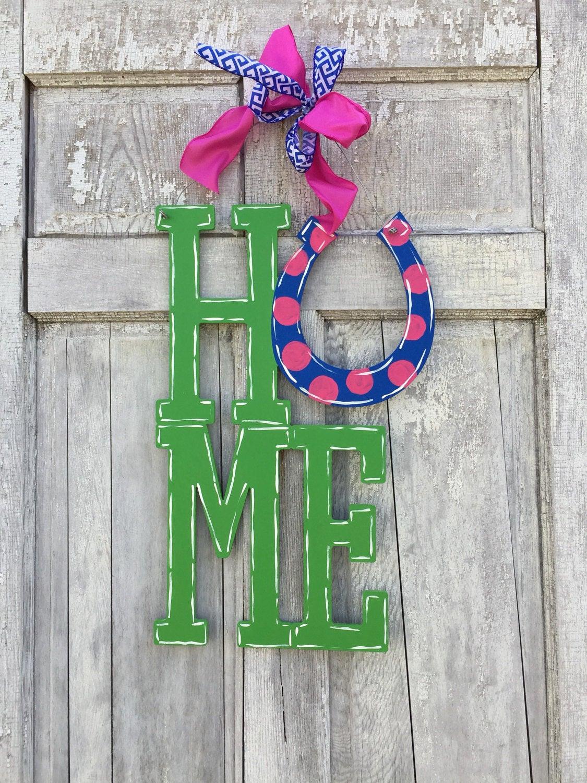 Derby 2017, Kentucky Home Door Hanger , Horseshoe Sign, Derby Door Hanger,  Horseshoe Sign, Welcome Sign, Door Hanger, Derby Party Decoration