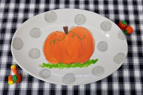 Hand painted pumpkin platter, fall platter, hand painted platter, pumpkin plate, fall decor, autumn platter, fall tablescape